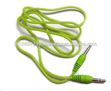 Wholesale 3.5mm Male To Male Stereo Audio Cables - For Phone,Tablet, Desktop Computer - 1m (Light Green) in Best Price