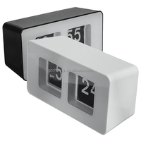 Best Promotion New Design Simple Modern Unique Retro Concise Simple Cube Nice Desk Wall Auto Flip Clock Wholeslae Price