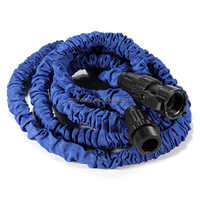 100ft Garden Blue Latex Expandable Flexible Portable Anti-Car Telescopic Pipes for Car Water Hose Reels