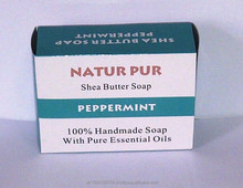 SHEA BUTTER PEPPERMINT SOAP- 100% NATURAL AND HANDMADE