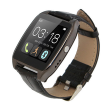 2015 Newest Leather Bluetooth Smartwatch W3 Smart Watch for 4/4S/5/5S S4/Note 3 HTC Android Phone Smartphones