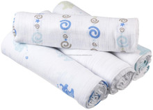 Hot selling organic muslin swaddle blanket with custom print