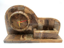 Indonesian Souvenir of Wooden Puzzle Clock