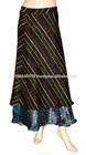 Mulheres tradicional envoltório de seda em torno saia abrir cintura