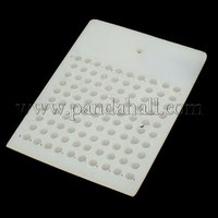 Plastic Bead Counter Boards, White, 75x105x4mm; Bead Size: 5mm TF004-1