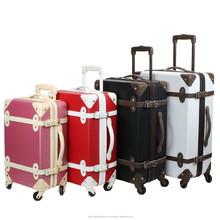 TSA lock classical carry on suitcase style with trunk luggage with wheels travel bag suitcase from luggage bags & cases