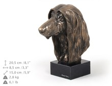 Afhan Hound, Statue on marblebase, Cold Cast Bronze, Art-Dog