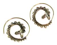 Crafty12 Gorgeous Beautiful New Latest Hot Charm Fashion Brass Spira Tribal Earrings