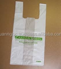 HDPE t-shirt plastic bag/ Customized t-shirt plastic bag for exporting to Canada