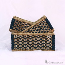 Laundry basket made from water hyacinth with handle,handicraft in VietNam