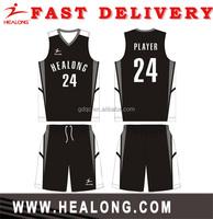 Healong Manufacturer basketball uniform jerseys sportswear basketball uniform