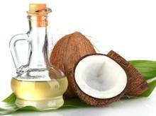 clear glass bottle organic extra virgin coconut oil