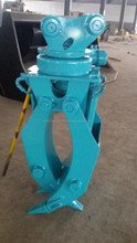 Hydraulic Metal Construction Attachments Grapple High Safety Performance