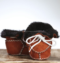 Handmade Sheepskin Baby Shoe, 100% Leather