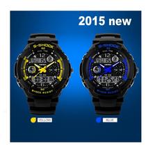 2015 SKMEI (S shork) 5ATM Waterproof watches Men Digital Sports Wrist Watch (High Quality NICE GIFT)