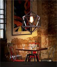 Antique style aluminum pendant lighting fixture with Edison bulb ancient lighting