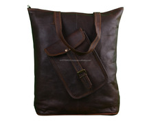 New Dark Brown Leather Women Shopping Bag Handbag Carry On Women Accessories Bag