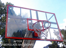FIBERGLASS/ACRYLIC BASKETBALL BOARD with SNAP BACK RING & NET
