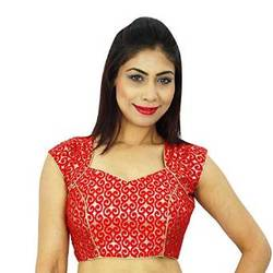 Indian Stitched Ethnic Women Wear Ethnic Designer Saree Weaving Crop-Top Blouse BL97A