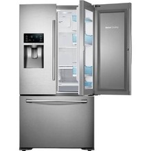 Samsuns 28 Cu. ft. 4-Door Refrigerator with 8 Wi-Fi Enabled LCD and Counter-Height FlexZone Drawer