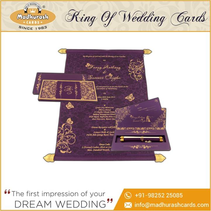 Unique Designer Invitation Wedding Cards Models
