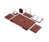 Customized black leather desk organizer classical gift set