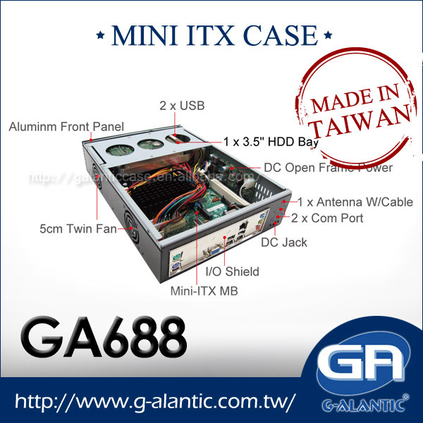 GA688 Car PC Mini ITX Barebone thin client computing