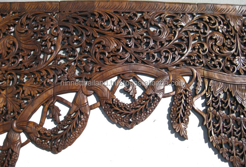 Carved wood panels wall art buy wood carving teak wood - Carved wood wall art panels ...