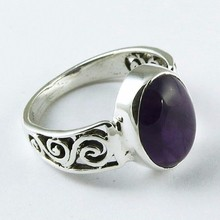 Ocean Blue !! Amethyst 925 Sterling Silver Ring, Silver Jewelry India, Silver Jewelry