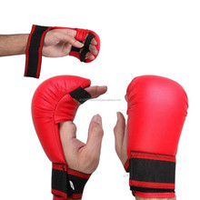 JUNIOR BOXING KARATE MITTS KIDS MARTIAL ARTS PU PADDED SPARRING GLOVES in Sporting Goods, Martial Arts, Training Equipment