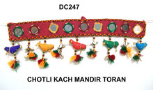 Indian Cotton Topper Embroidered Door Window Valance Patchwork Wall Hanging-Wholesale mirror work wall hanging -handicraft
