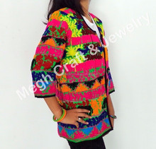 Traditional Gujarati embroidered jacket-embroidered coats for Girls-Indian embroidered fashion jacket-Wholesale Kutch handicraft