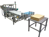 Inverted tray style tray packer VZT230