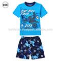 Cool Boy historia de carreras de verano de algodón diseño venta al por mayor pijamas para los niños