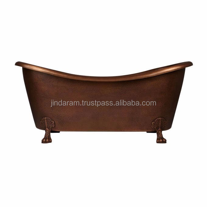 Elegant Copper Bathtub with Solid Clawfeet Design.jpg