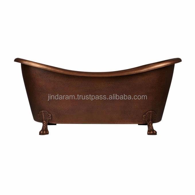 Elegant Copper Bathtub with Solid Clawfeet Design.jpg