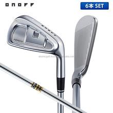 [2015 golf iron set] ONOFF Golf FORGED IRON KURO Iron Set 6 pcs (5-P)Dynamic gold steel shaft