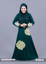 Jubah and Dress with Lycra Korea Mix Flower , JU-51