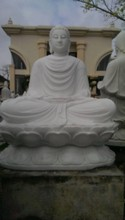 White Marble Buddha Sitting Down Statue for sale