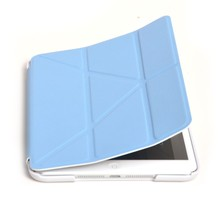 Suitable For IPad Mini 2/3 Smart Magnetic Case Cover Auto Sleep Wake Up Function Foldable Stand Mount Impact Resistant Blue