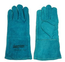 "13"" Green High Quality Full Split Leather Gloves."