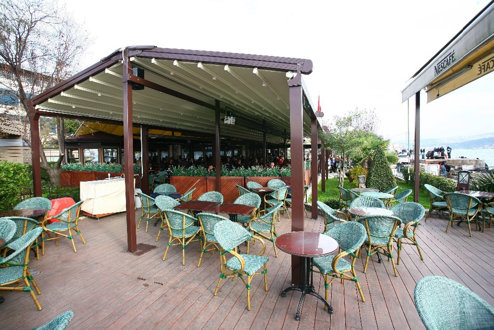 Double sided aluminum retractable pergola awning system buy home and garden - Pergola alu toile retractable ...