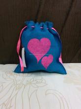 jute mini drawstring pouch