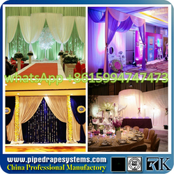 white wedding fabric and curtains for sale and pipe and drape with competitive price