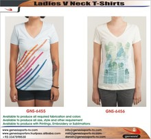 Woman V Neck T Shirts