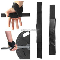 Professional Gym Training Weight Lifting Gloves Bar Grip Barbell Straps Wraps Hand with Wrist Support for Protection