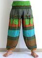 indianas algodão boho hippie calças harem-indiana de algodão 2 bolsos harem-100% algodão harem pants