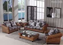 Modern Rattan Interior Decor Living Room - Luxury Home Living Furniture - Hand Woven by Wicker, Hyacinth. Acasia Wood