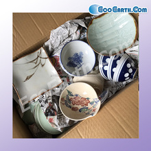 Japanese style used white ceramic soup bowls , other used tableware also available