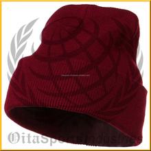 Free pom beanie for sports team, winter beanie hat wholesale
